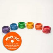 Grapat set van 18 ringen basiskleuren (15-115)