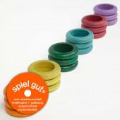 Grapat set van 18 ringen herfstkleuren (16-156)