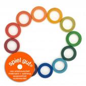 Grapat set van 12 verschillende kleuren ringen (18-187)