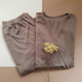 Green Rose woolen breastfeeding  pyjama brown