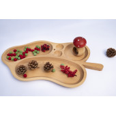 Montessori wooden sorting tray leaf