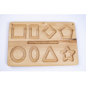 Montessori wooden reversible geometry tracing board