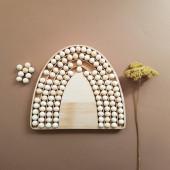 Montessori Regenboog met 120 houten balletjes