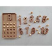Montessori 20 bord met houten balletjes