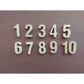 Montessori houten cijfers set 1 tm 10
