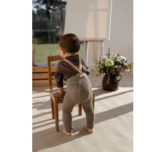 Silly Silas cotton footless tights browny Charcoal