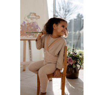 Silly Silas cotton footless tights Sivlerly Brown
