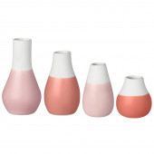 Raeder set of 4 mini vases pink/red shades