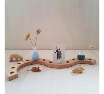 Raeder set van 4 mini vaasjes blauw tinten