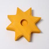 Grimms kaarsenhouder ster geel (2830)