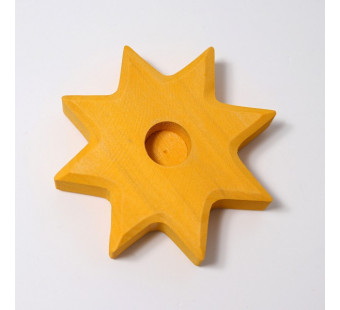 Grimms candle holder star yellow (2830)