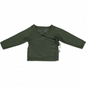 Poudre Organics wrap around shirt forest green
