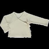 Poudre Organics toweling wrap around shirt almond milk