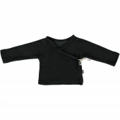 Poudre Organics toweling wrap around shirt pirate black