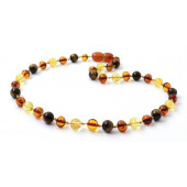 amber necklace multi colour tiger eye and citrine