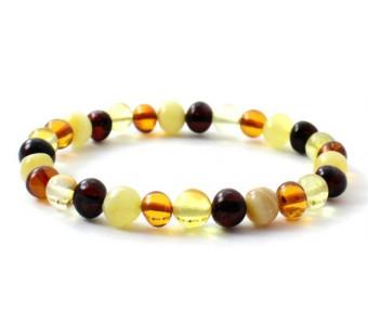 Barnsteen elastische armband voor volwassenen multikleur
