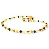 amber necklace multi colour