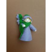 Seasonal doll Bellflower with flowers in her hand