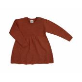Puri organics gebreide jurk cinnamon  80% katoen 20% wol