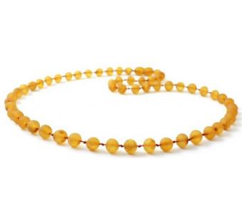amber necklace honey coloured