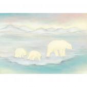 Postkaart Ijsbeer met jong  (Baukje Exler)
