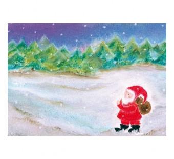 Postkaart De Kerstman (Baukje Exler)