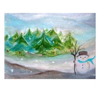 Postkaart De Sneeuwpop (Baukje Exler)