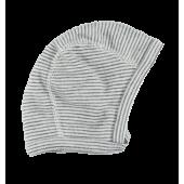 Lilano wolzijde mutsje grijs gestreept