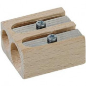 Wooden sharpener 2 holes.