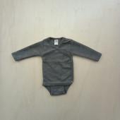 Lilano wool silk wrap around body grey
