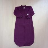 Lilano brushed woolen sleeping bag purple