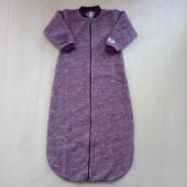 Lilano brushed woolen sleeping bag purple striped