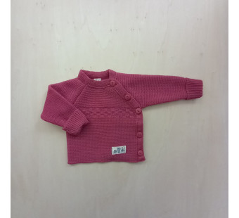 Lilano knitted woolen wrap around sweater pink