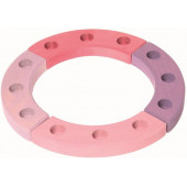 Grimms birthday ring pink , 12 holes  (2014)
