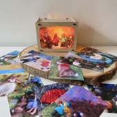 Het wol feetje lamp with 12 cards A6