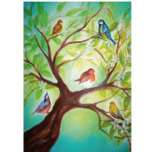 vogels in boom (Baukje Exler)
