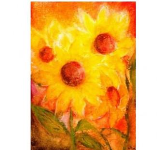 Postkaart Zonnebloemen (Baukje Exler)