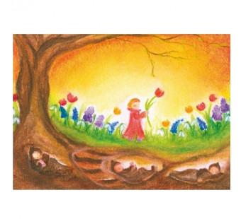 Postkaart De wortelkindjes (Baukje Exler)