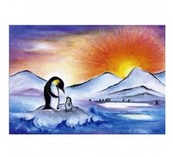 Postkaart De Pinguin (Baukje Exler)