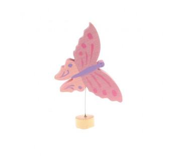Grimms steker vlinder roze (4240)