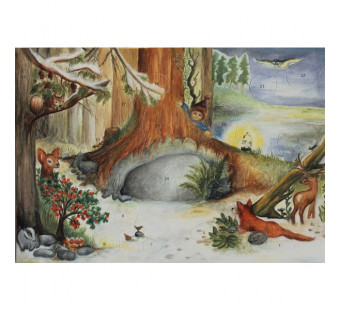 Advent calendar small made by Spalinger - In the woods by the animals