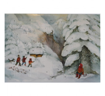 Advent calendar small from Lesch: Christmas in the mountains