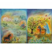 Adventslantaarn van Bernadette Lips - Marias kleiner Esel