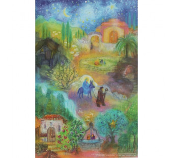 Advent calendar large from  Koconda: Mary's little donkey