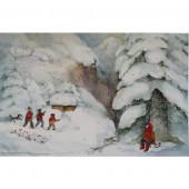 Adventskalender groot van Lesch - Weihnacht im Gebirgte