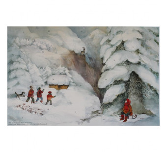 Advent calendar large from Lesch - Christmas in the mountains