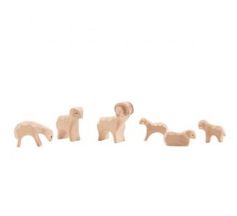 Ostheimer schapengroep 6 delig MINI (66030)