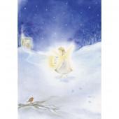 Postkaart Engeltje in de sneeuw (Baukje Exler)