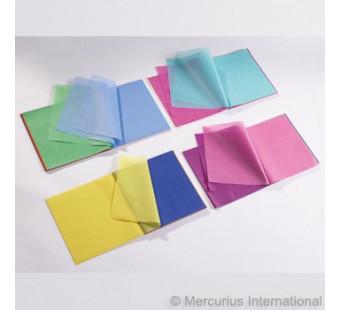 Zijdevloei van 24cm *24cm per 240 vel 20 kleuren
