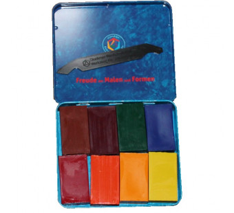 Stockmar beeswax blocks , 8 colours in a tin, waldorf selection